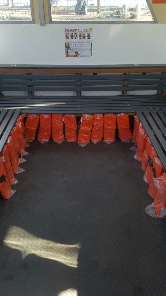 hayling ferry lifejackets